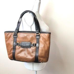 Stone Mountain Leather 2 Tone Tote Bag